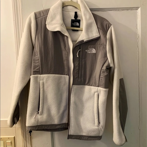 The North Face fleece jacket, white, size Medium